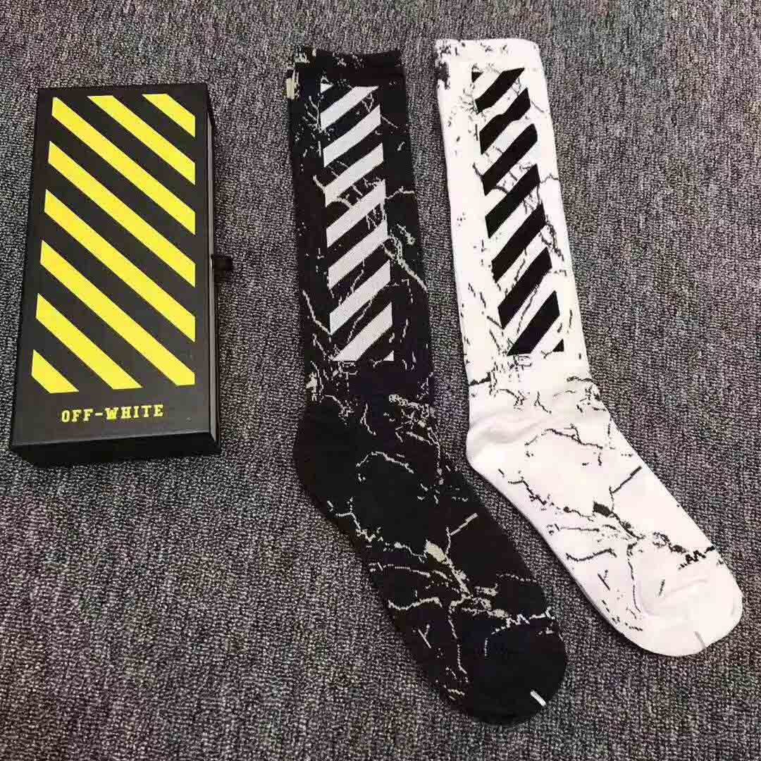 Off White Wing Off Socks in Grey & White - FashionBeast