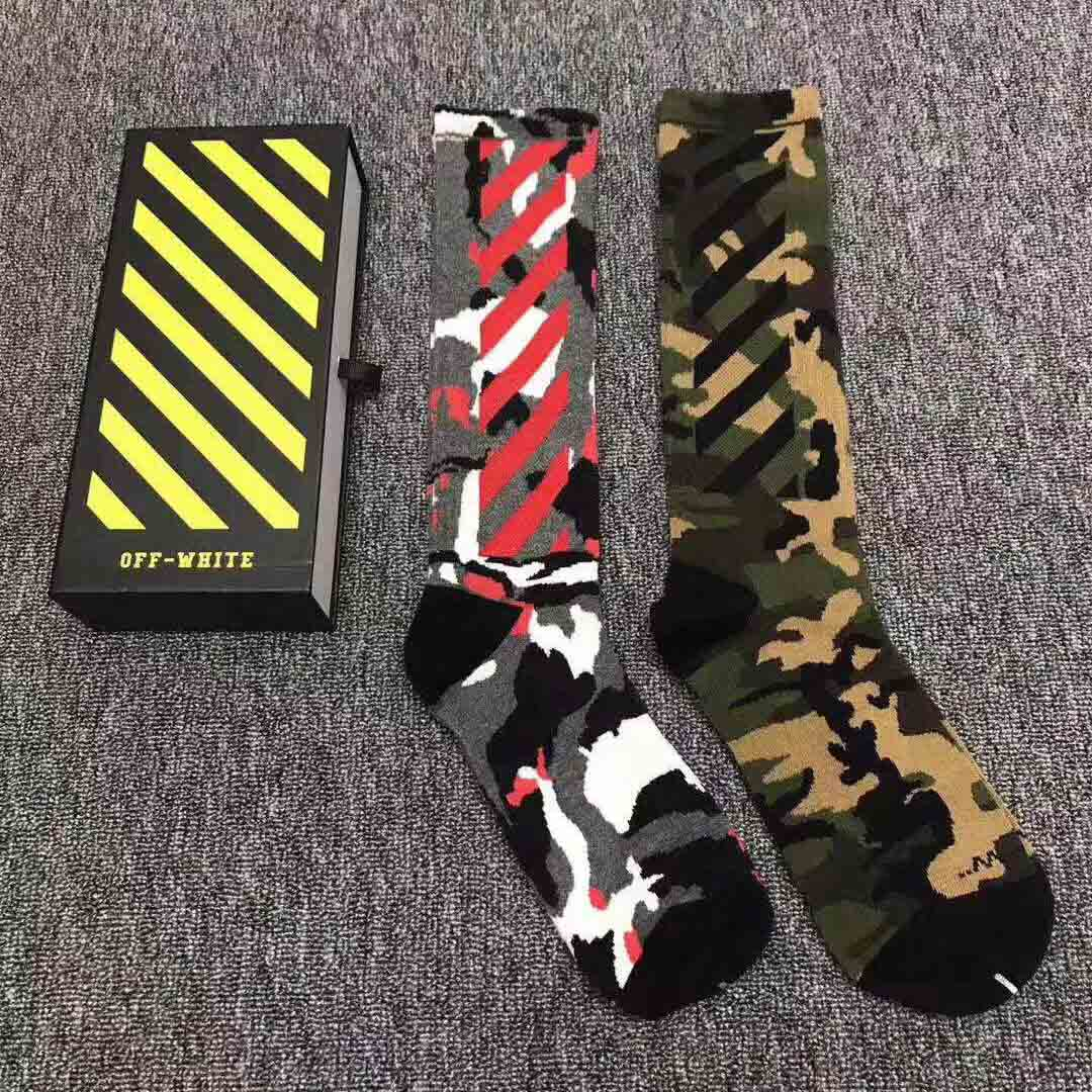 Off White Camouflage Wing Off Socks  - FashionBeast