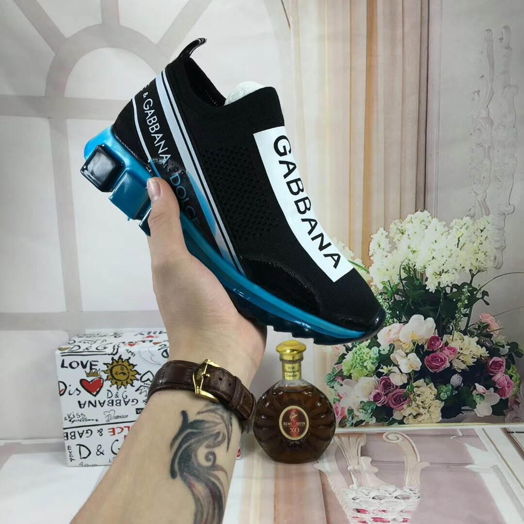Dolce & Gabbana Sneakers in Black/Blue - FashionBeast