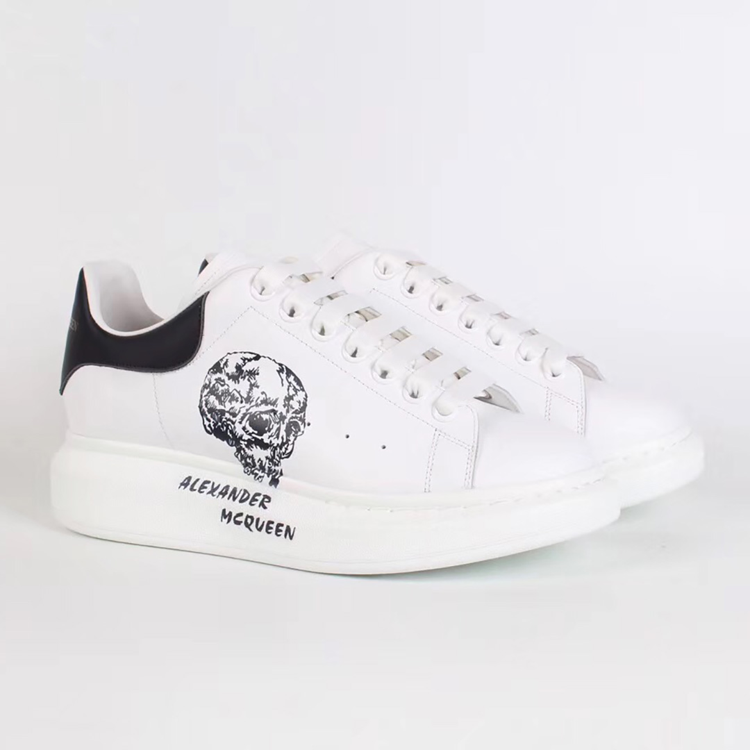 Alexander McQueen White Sneakers with Skulls Print - FashionBeast