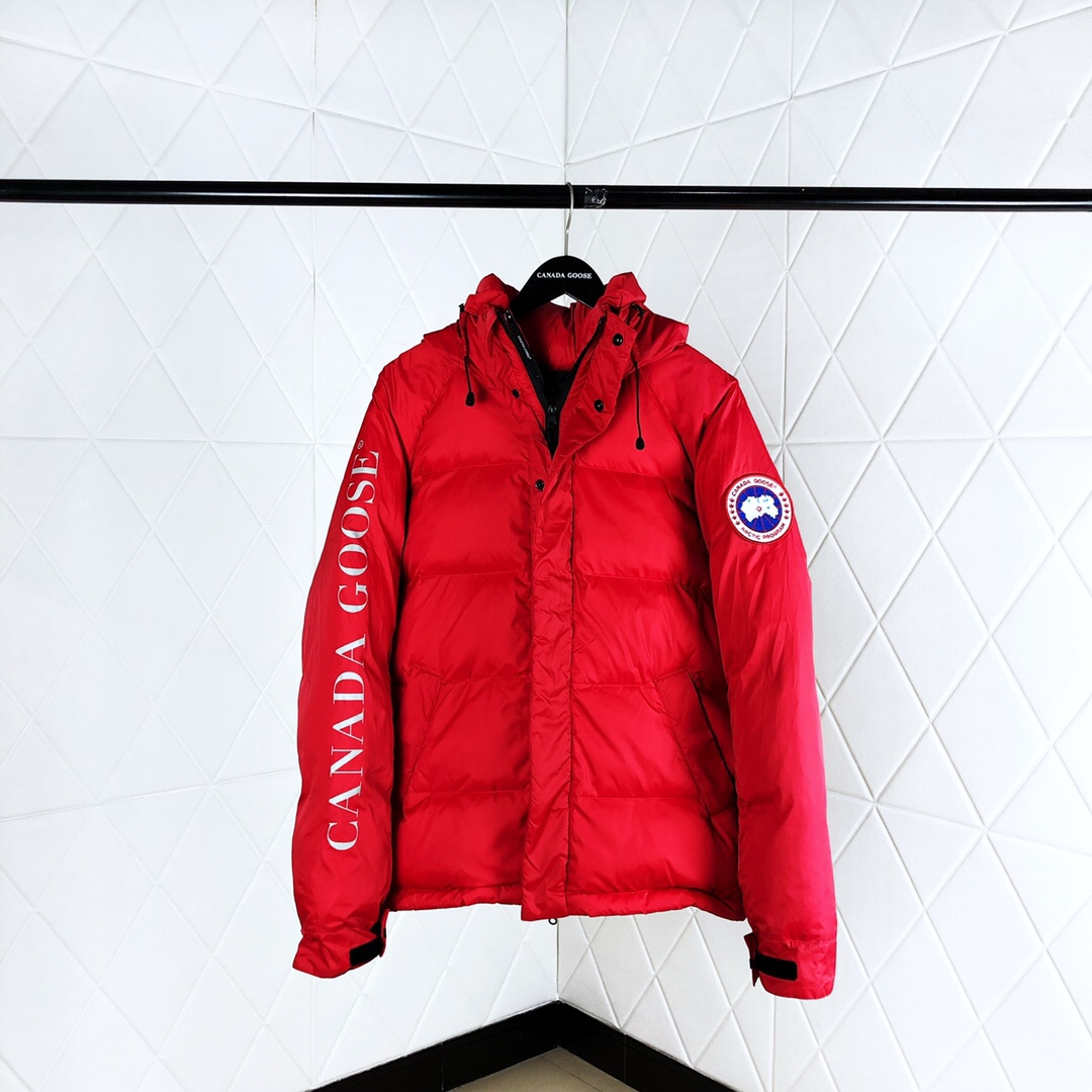 Down Jacket in Red - FashionBeast