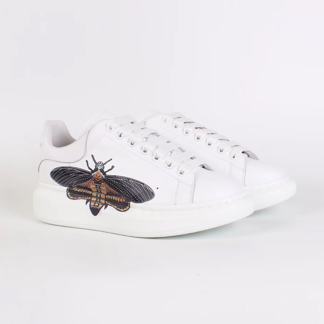 Alexander McQueen White Sneakers with Cicada Print - FashionBeast