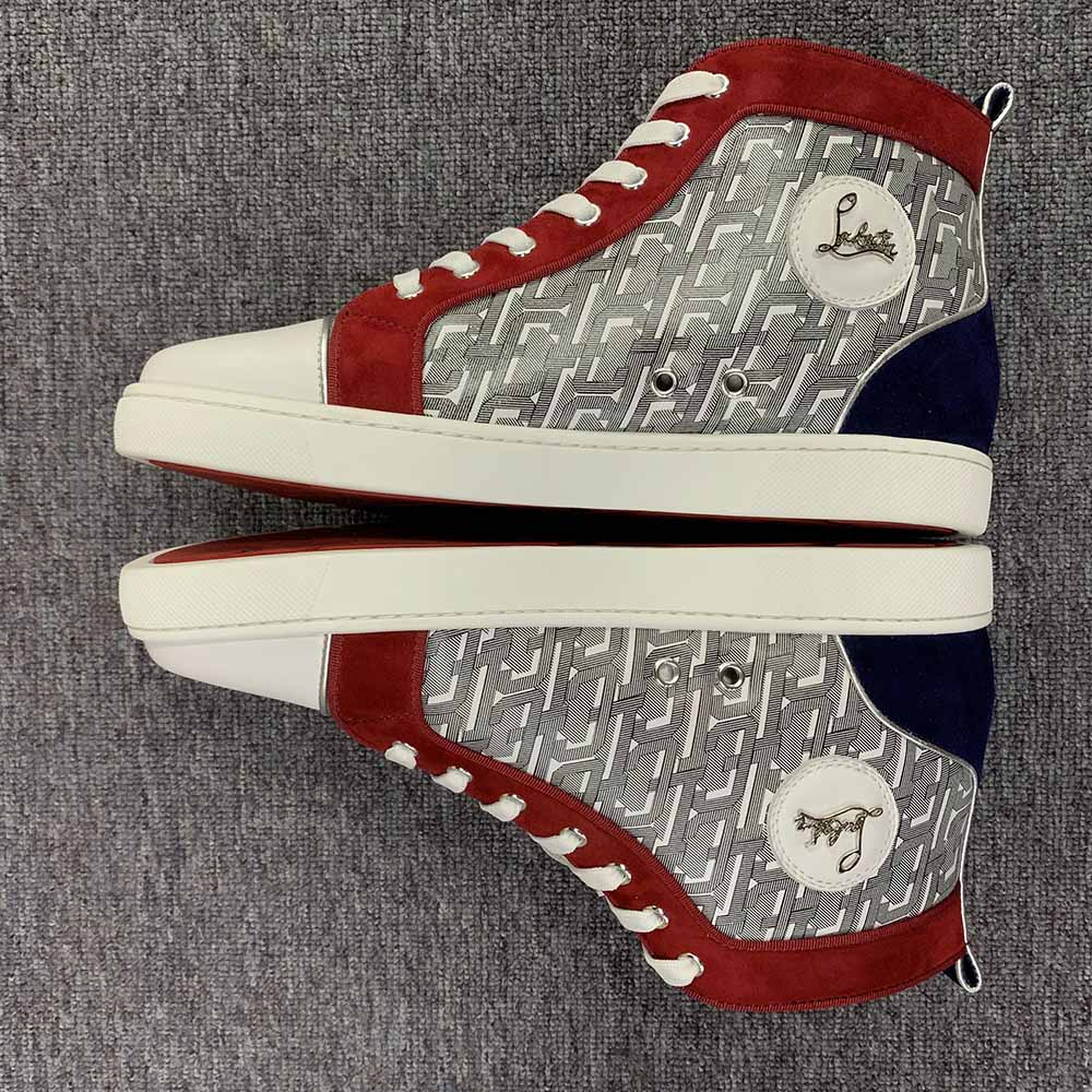 Christian Louboutin Louis Junior Spikes High Top Sneakers - FashionBeast