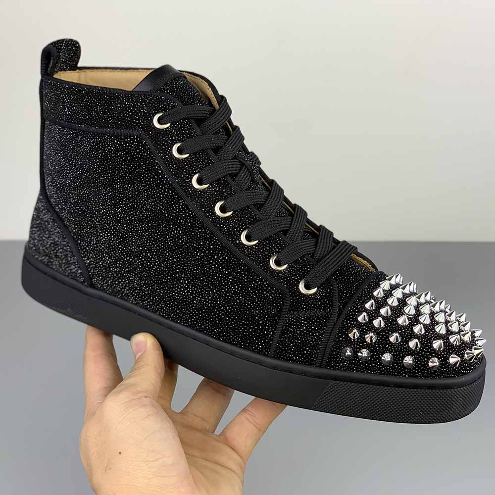 Christian Louboutin High Top Louis Junior Spikes Orlato Sneaker - FashionBeast