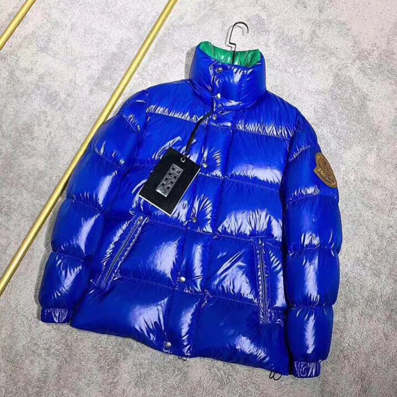 Moncler Down Jacket in Blue/Green - FashionBeast