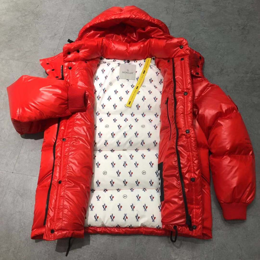Moncler Down Jacket in Red - FashionBeast