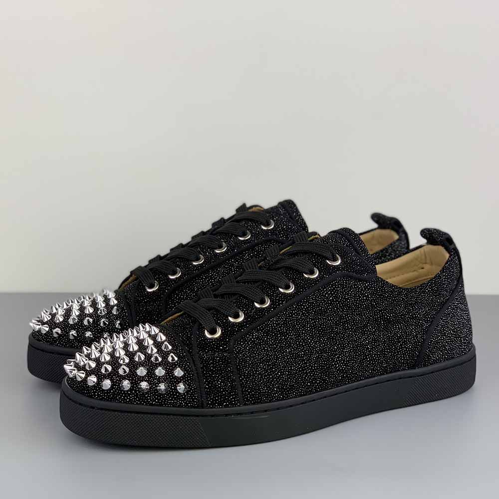 Christian Louboutin Low Top Louis Junior Spikes Orlato Sneaker - FashionBeast
