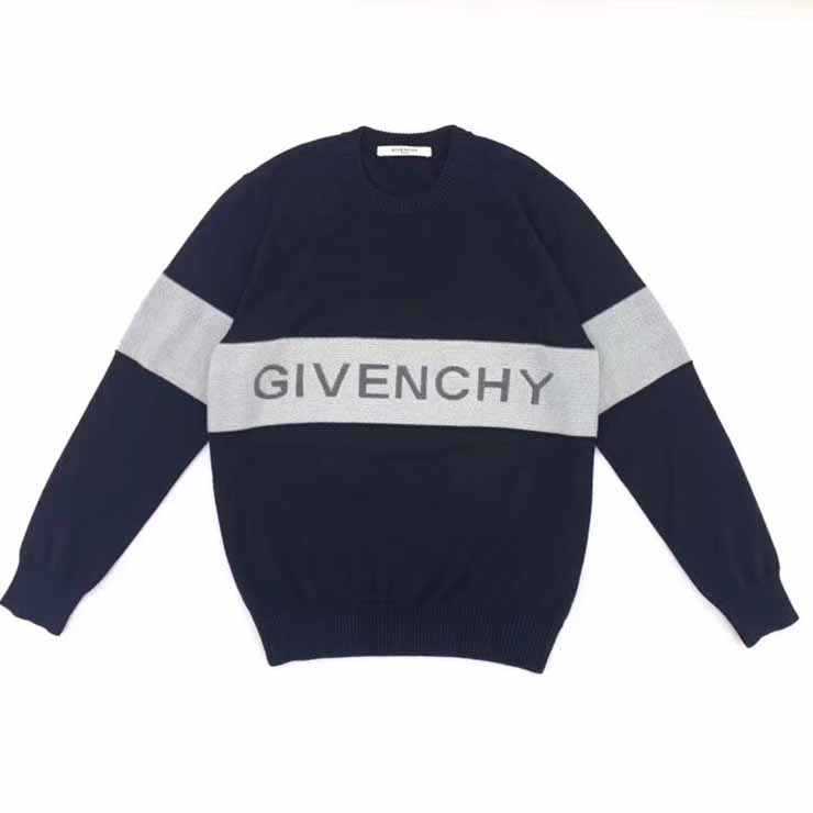 Givenchy Logo Wool Sweater in Black/White - FashionBeast