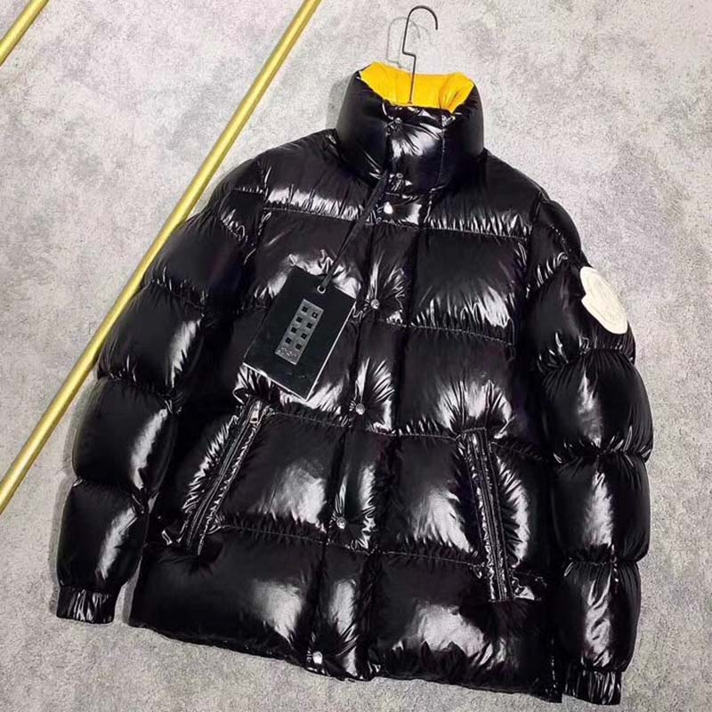 Moncler Down Jacket in Black/Yellow - FashionBeast