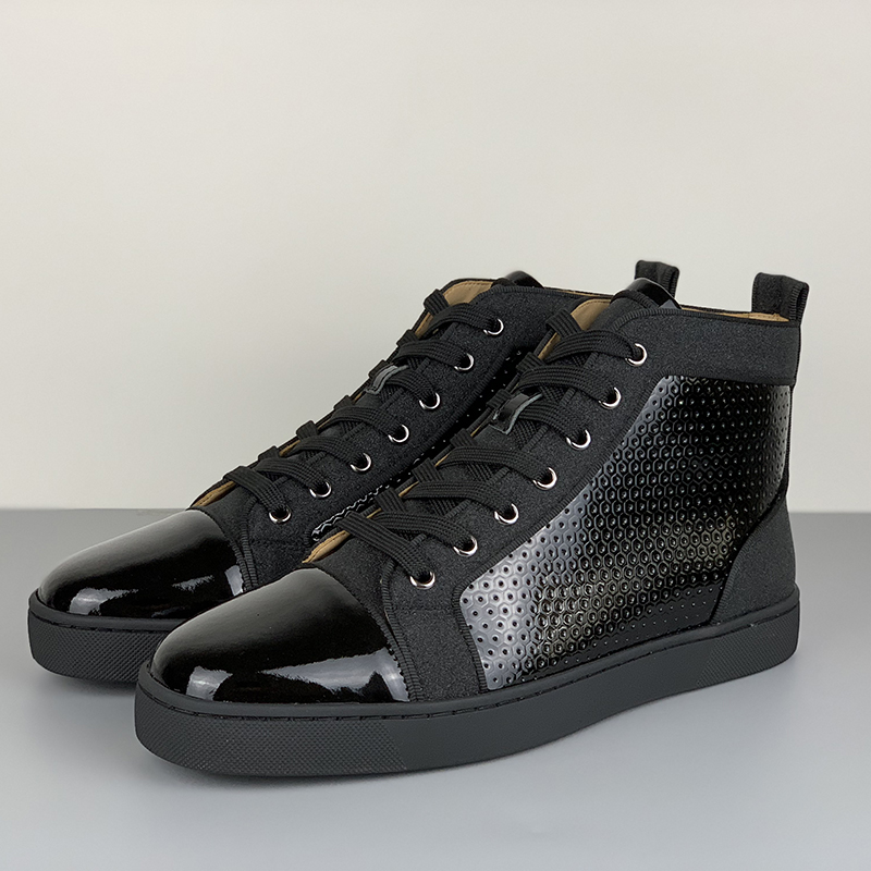 Christian Louboutin High Top Black Sneakers - FashionBeast