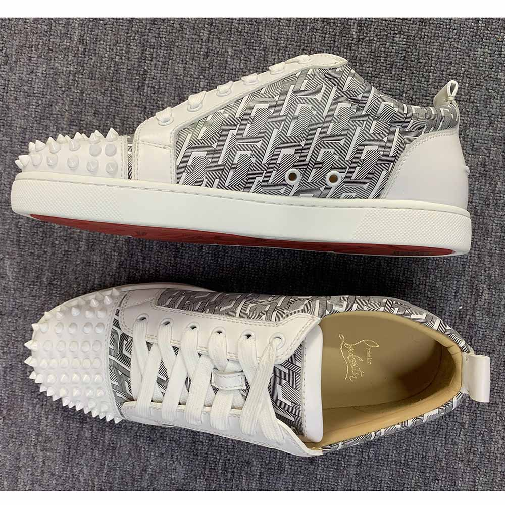 Christian Louboutin Louis Junior Spikes Low Top Sneakers - FashionBeast
