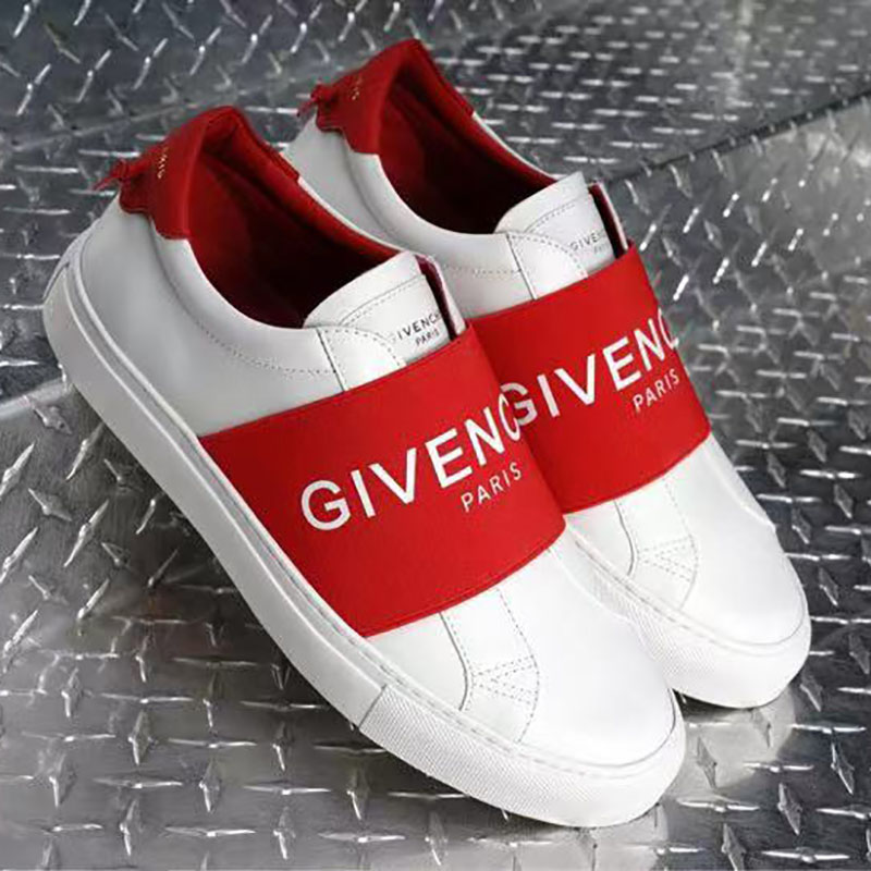 Givenchy Paris Webbing Leather Sneakers - FashionBeast