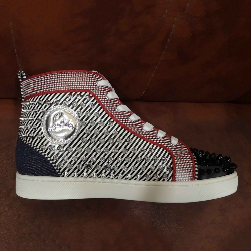 Limited Version Christian Louboutin Louis Junior Spikes High Top Sneakers - FashionBeast