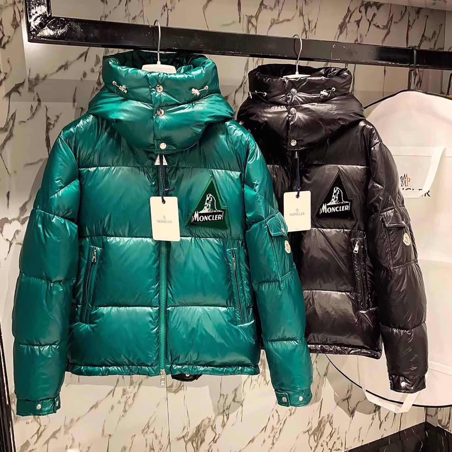 Moncler Down Jacket in Green - FashionBeast