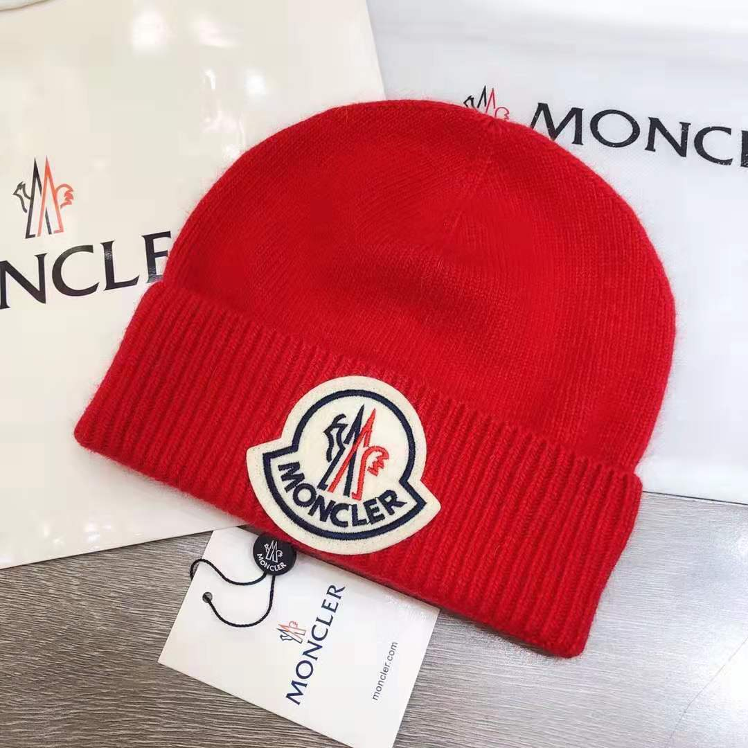 Moncler Logo Knitted Hat - FashionBeast