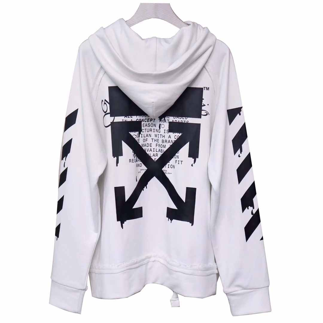 Off-white Dripping Arrows Hoodie - FashionBeast