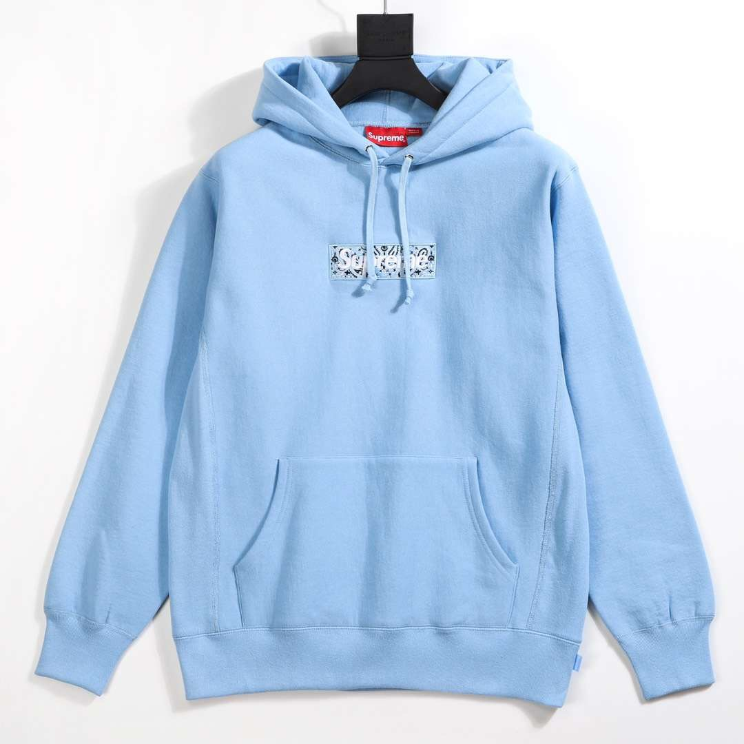Supreme Bandana Box Logo Hooded in Blue - FashionBeast