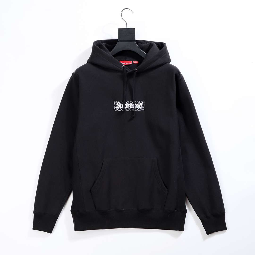 Supreme Bandana Box Logo Hooded in Black - FashionBeast