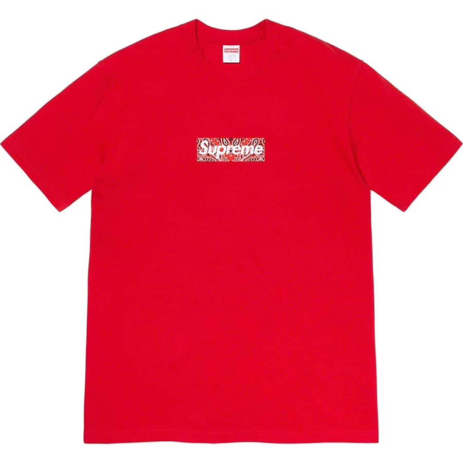 Supreme Bandana Box Logo Tee in Red - FashionBeast