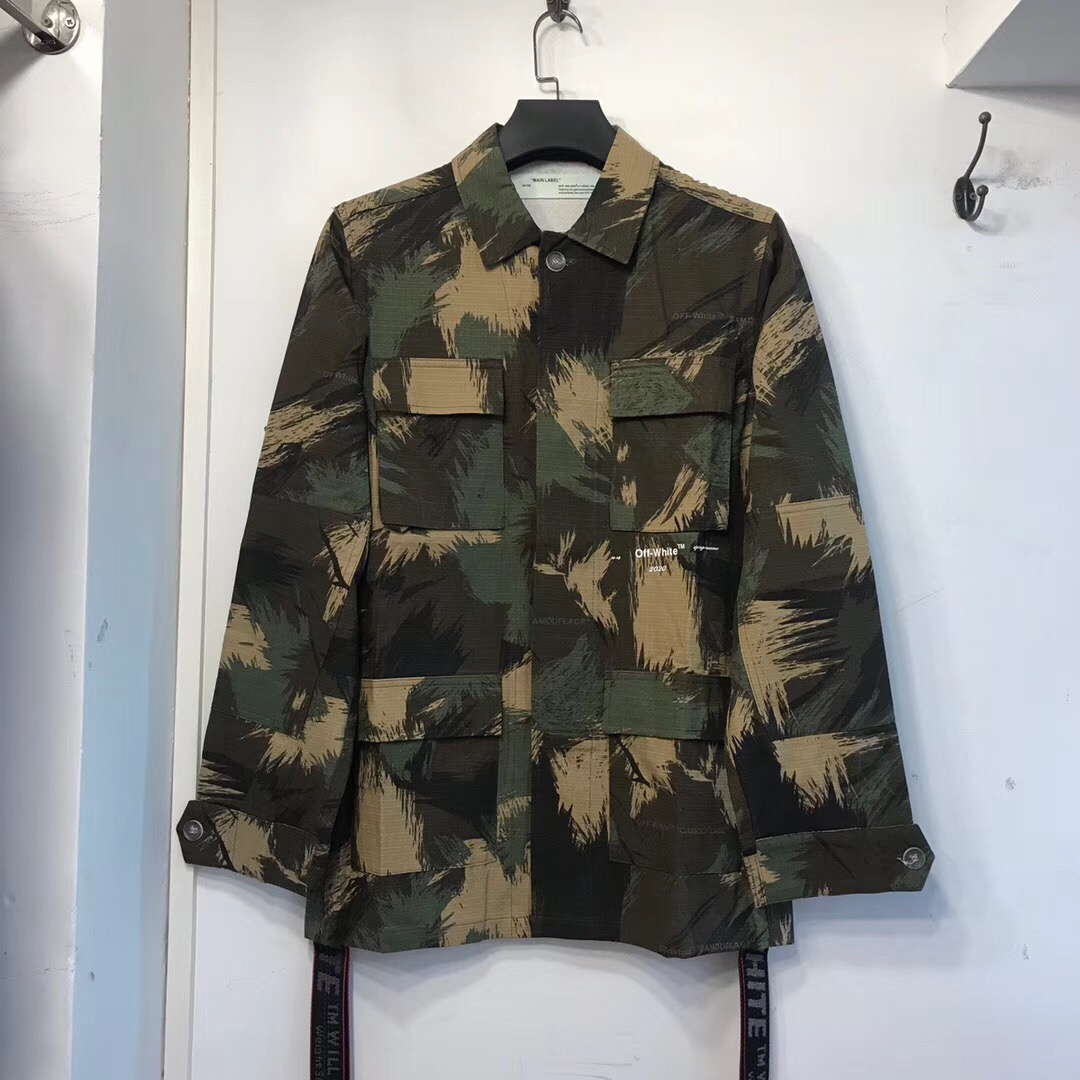Off White Logo Camouflage Jacket  - FashionBeast