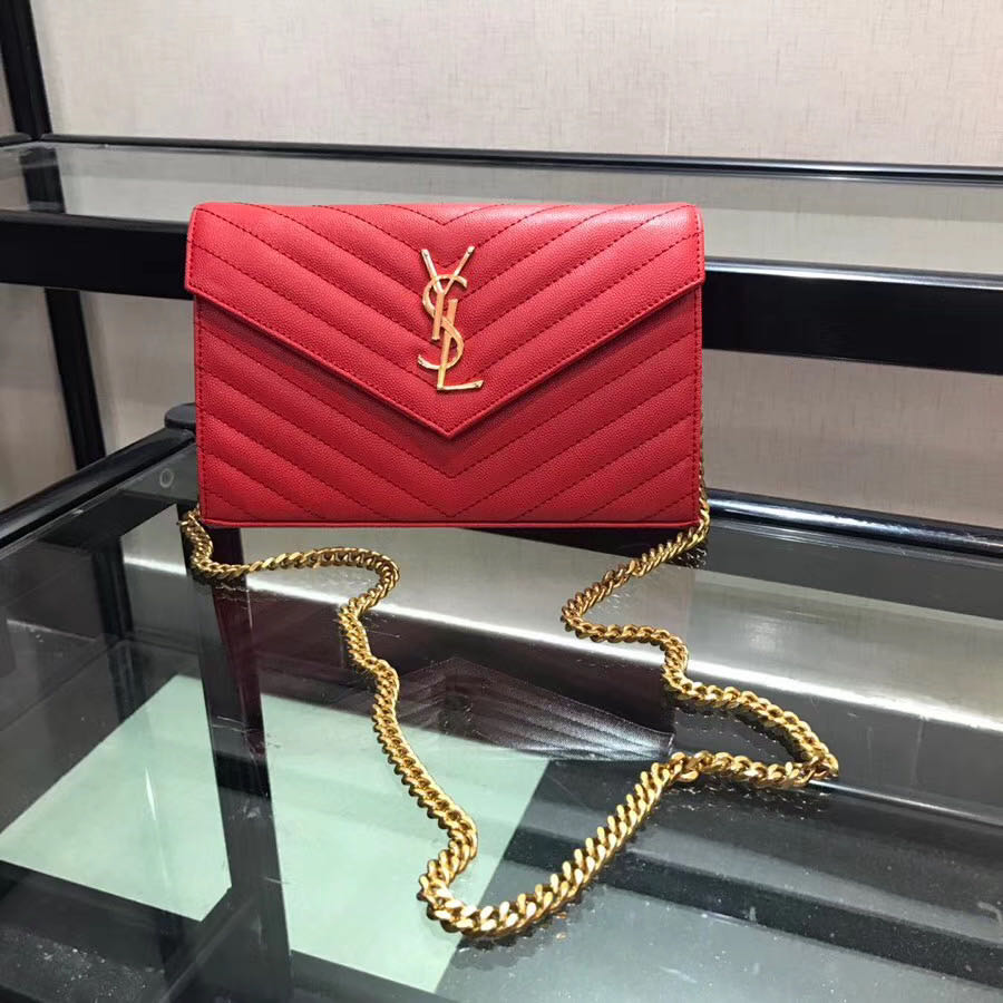 Red Leather Shoulder Bag - FashionBeast