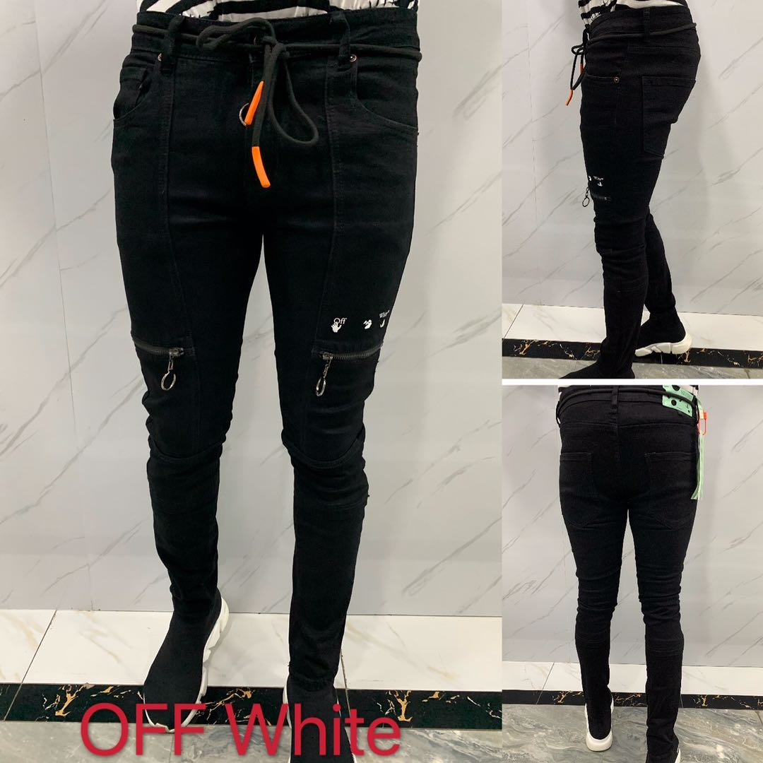 Off-White Slim-fit Denim Jeans - FashionBeast