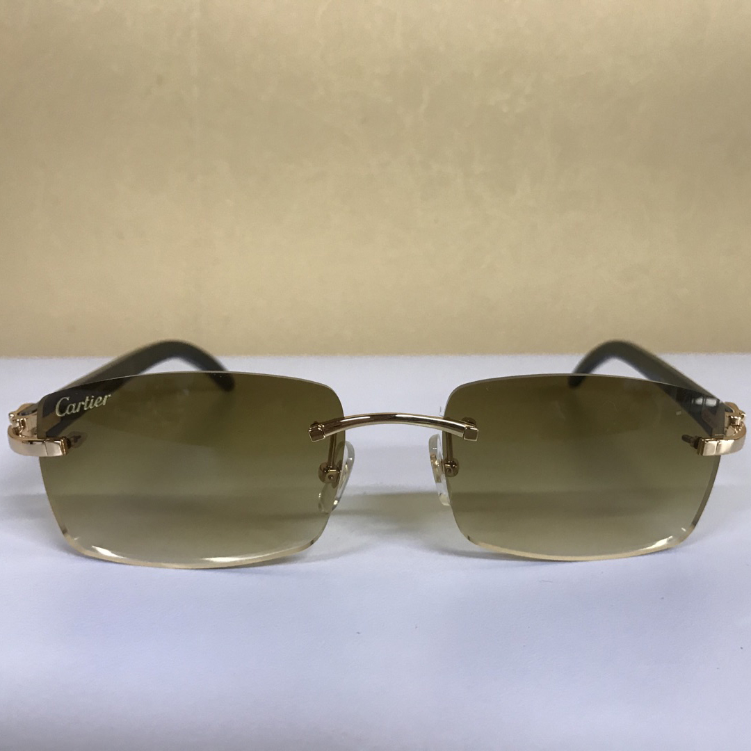 CARTIER 3524012 WHITE BUFFALO BIG LENS SUNGLASSES IN BROWN - FashionBeast