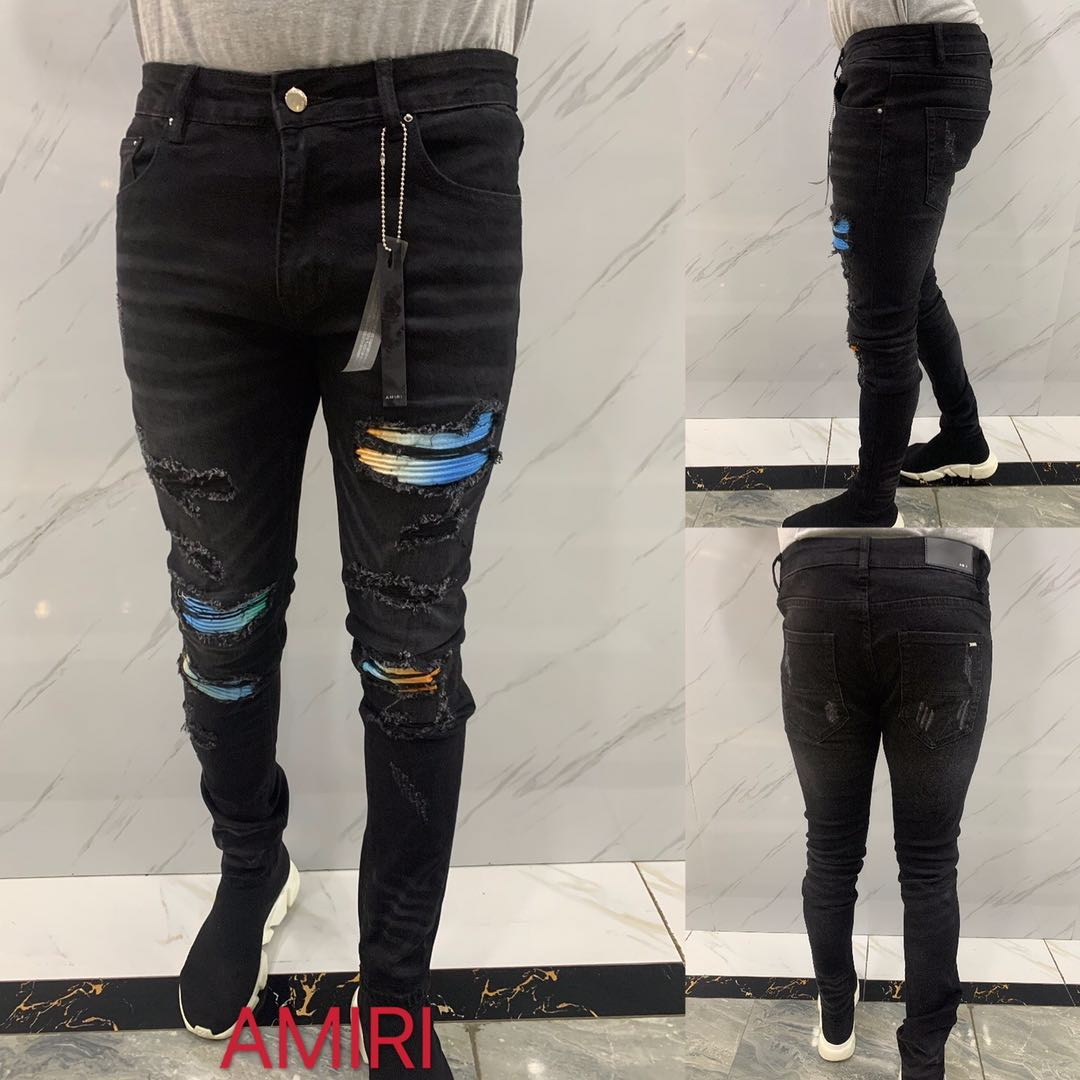 Art Patch Broken Jeans - FashionBeast