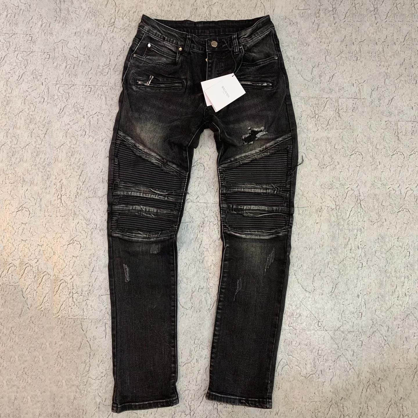 Black Art Patch Jeans  - FashionBeast