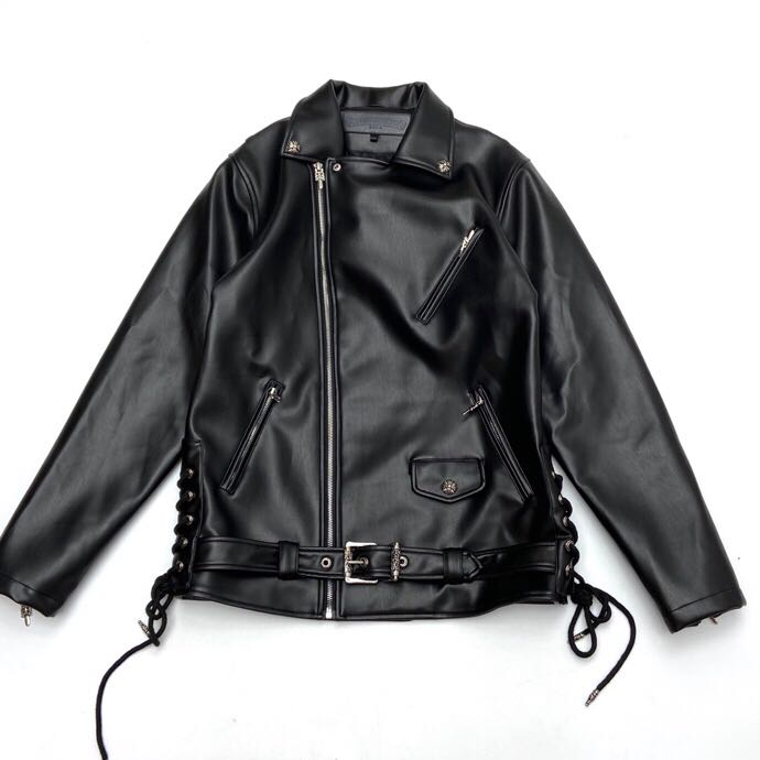 JJ DEAN Leather Biker Jacket - FashionBeast