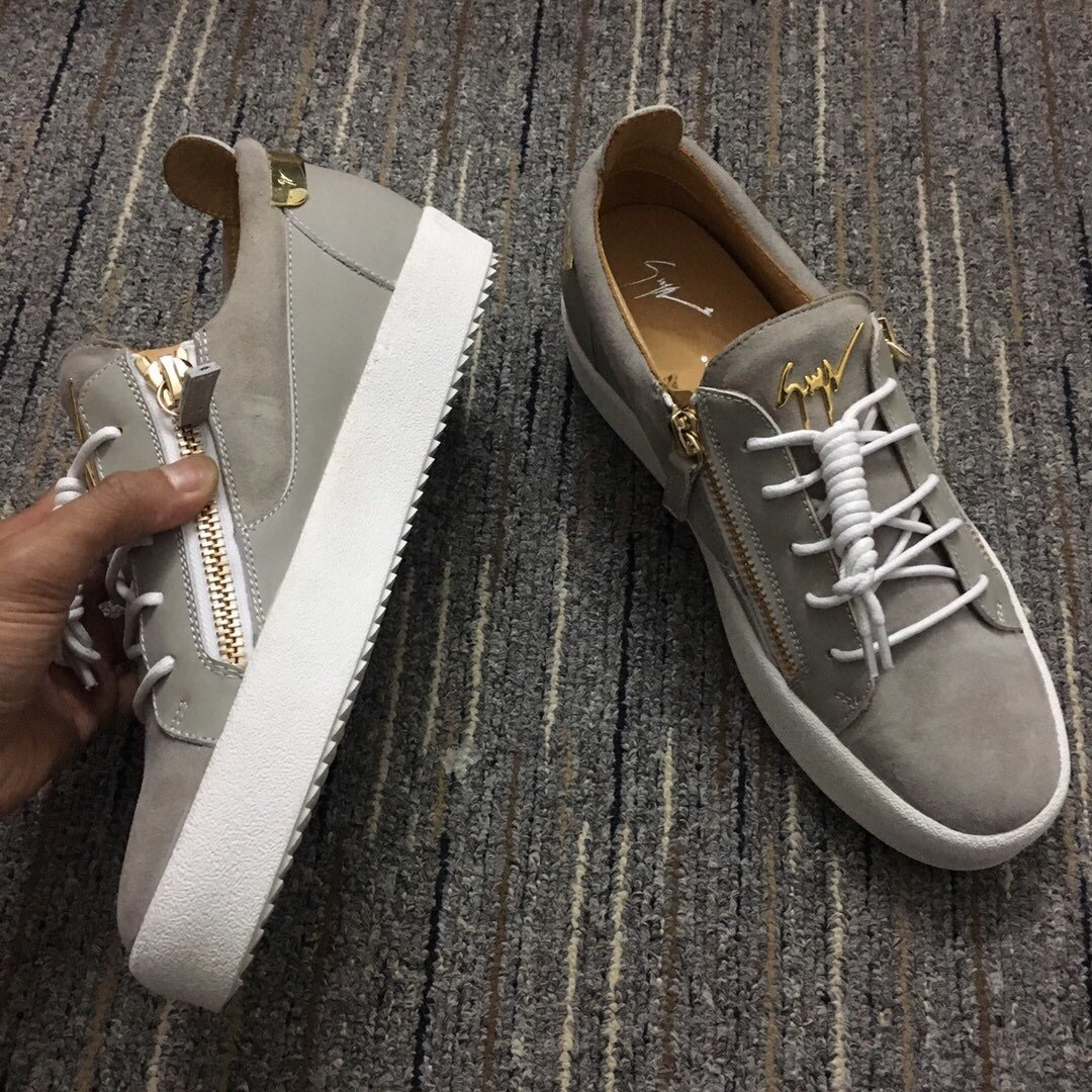 Zipped Low Top Sneakers - FashionBeast
