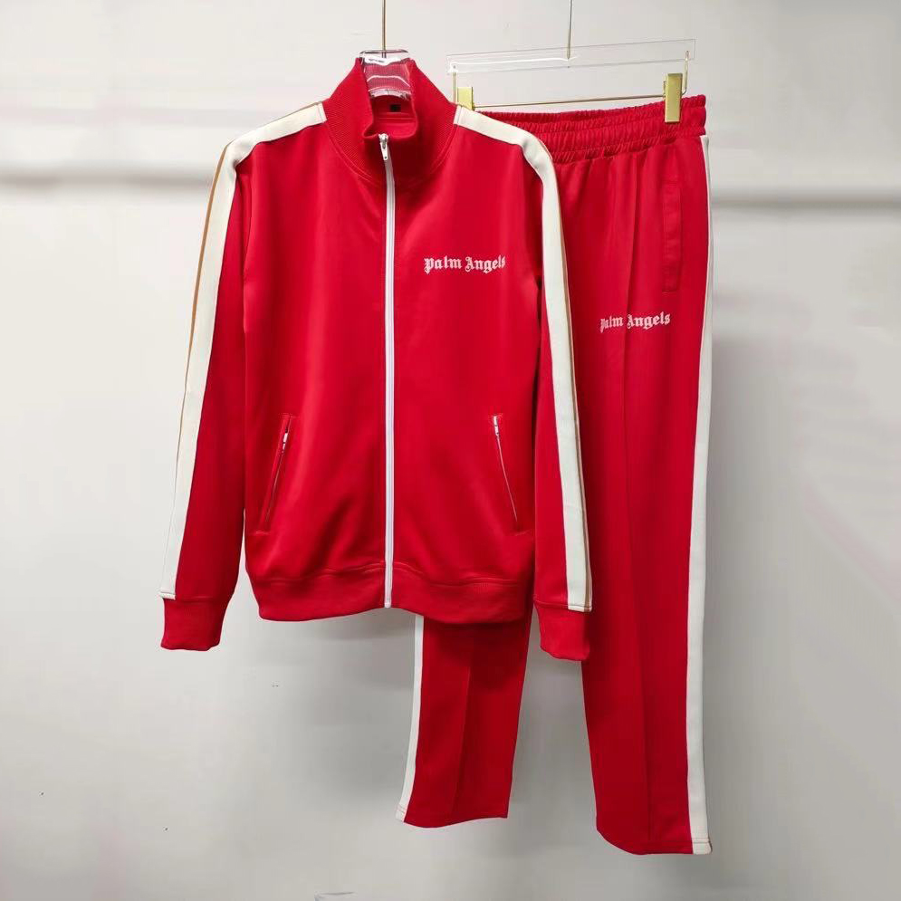 Classic Track Jacket & Pant Tracksuit in Red  - FashionBeast
