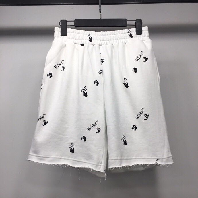 Logo Printed Cotton Shorts White - FashionBeast