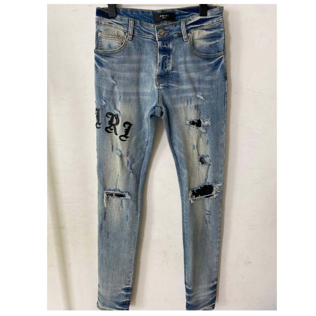 Embroidered Slim-fit Stretch Jeans - FashionBeast
